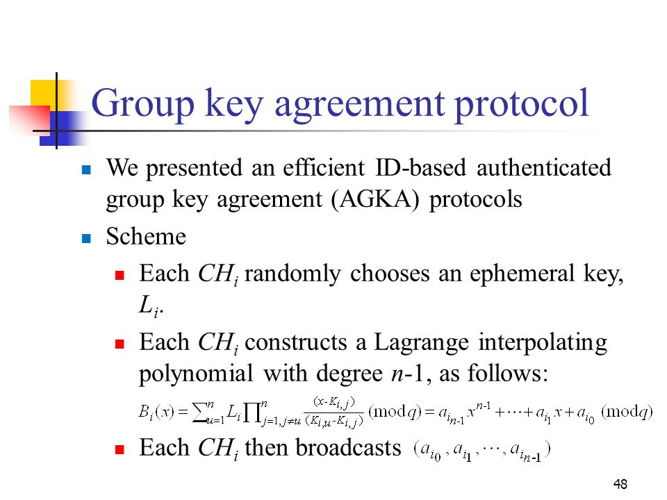 Group key agreement protocol