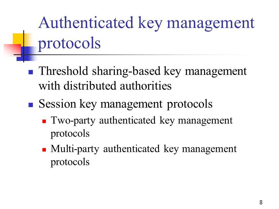 Authenticated key management protocols