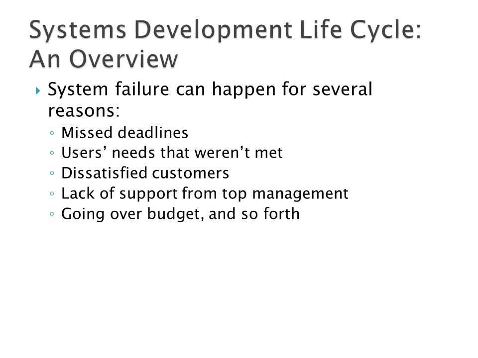 Systems Development Life Cycle: An Overview