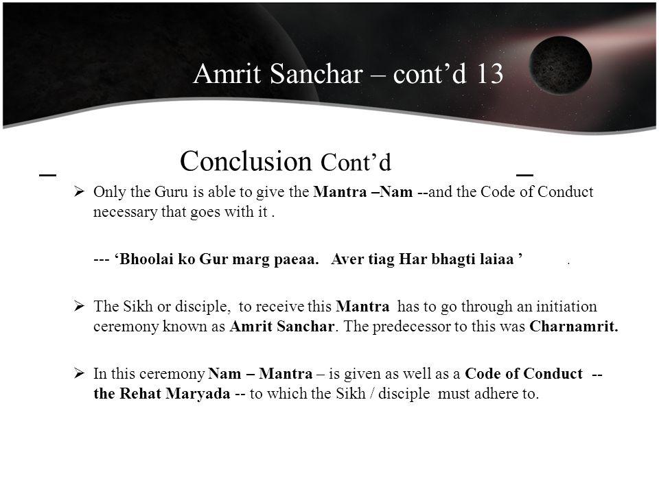 Amrit Sanchar – cont'd 13 _ Conclusion Cont'd _