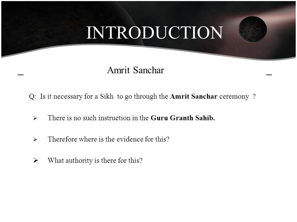 INTRODUCTION _ Amrit Sanchar _