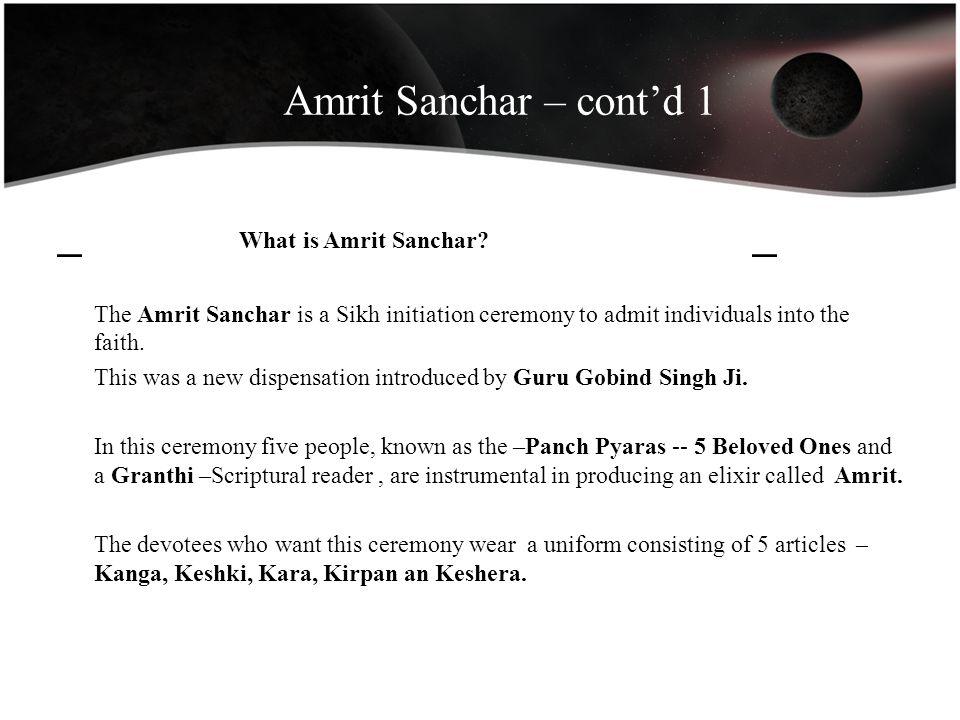 _ What is Amrit Sanchar _