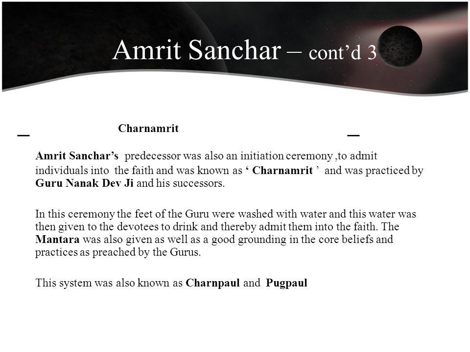 Amrit Sanchar – cont'd 3 _ Charnamrit _
