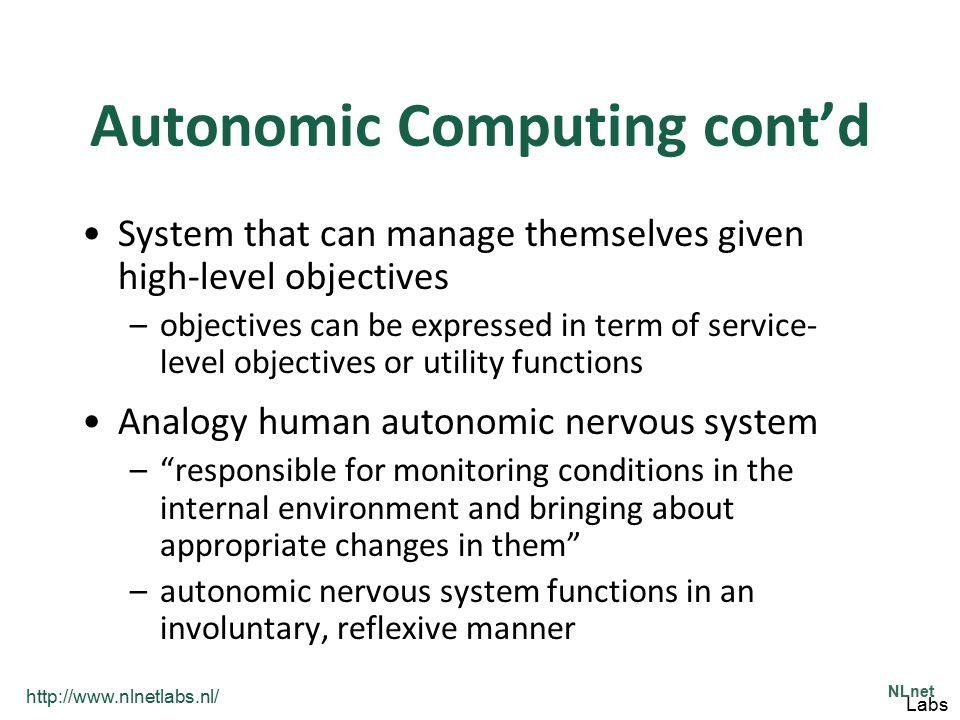 Autonomic Computing cont'd
