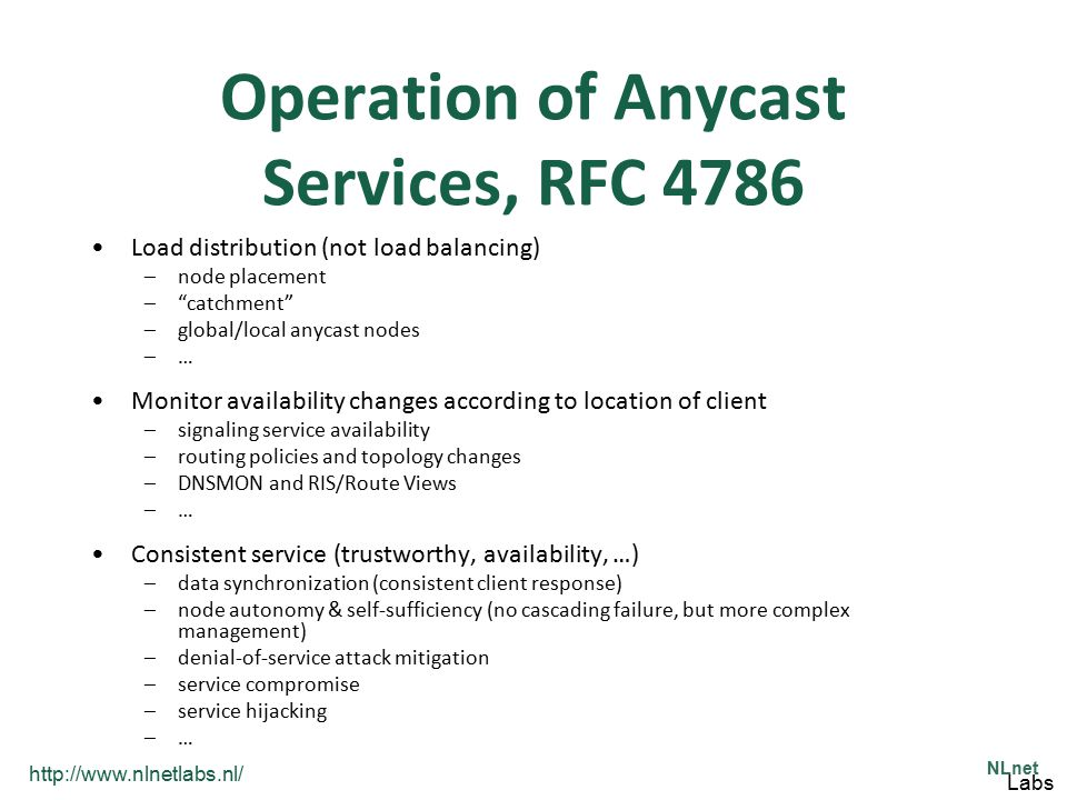 Operation of Anycast Services, RFC 4786