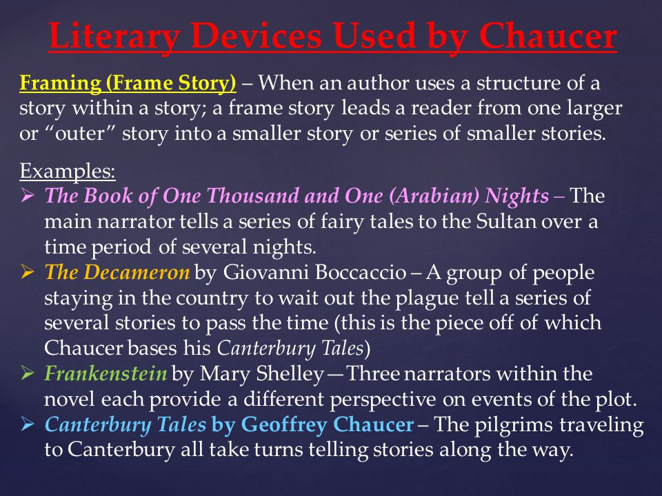 Literary Devices Used by Chaucer