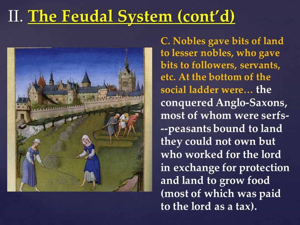 II. The Feudal System (cont'd)