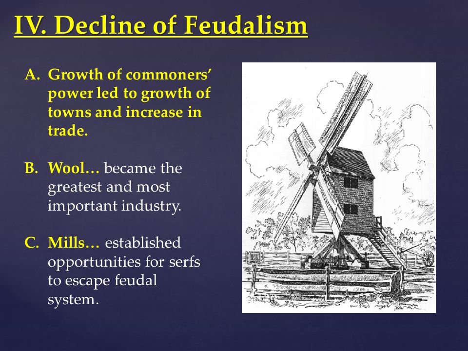 IV. Decline of Feudalism