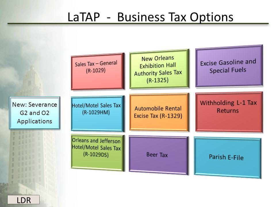 LaTAP - Business Tax Options