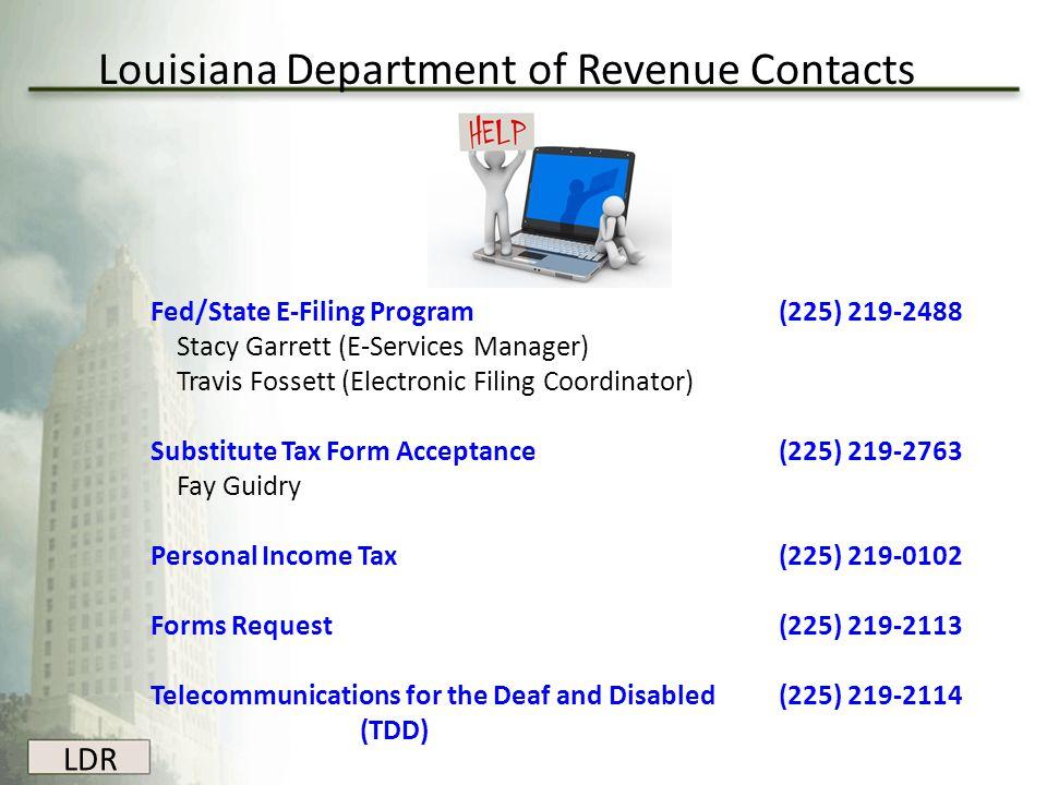 Louisiana Department of Revenue Contacts