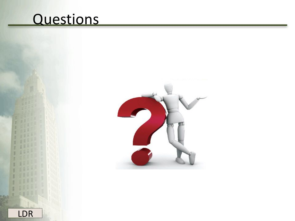 Questions LDR
