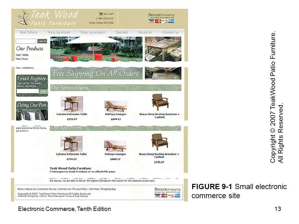 FIGURE 9-1 Small electronic commerce site