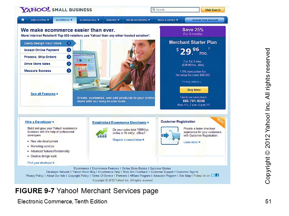 FIGURE 9-7 Yahoo! Merchant Services page
