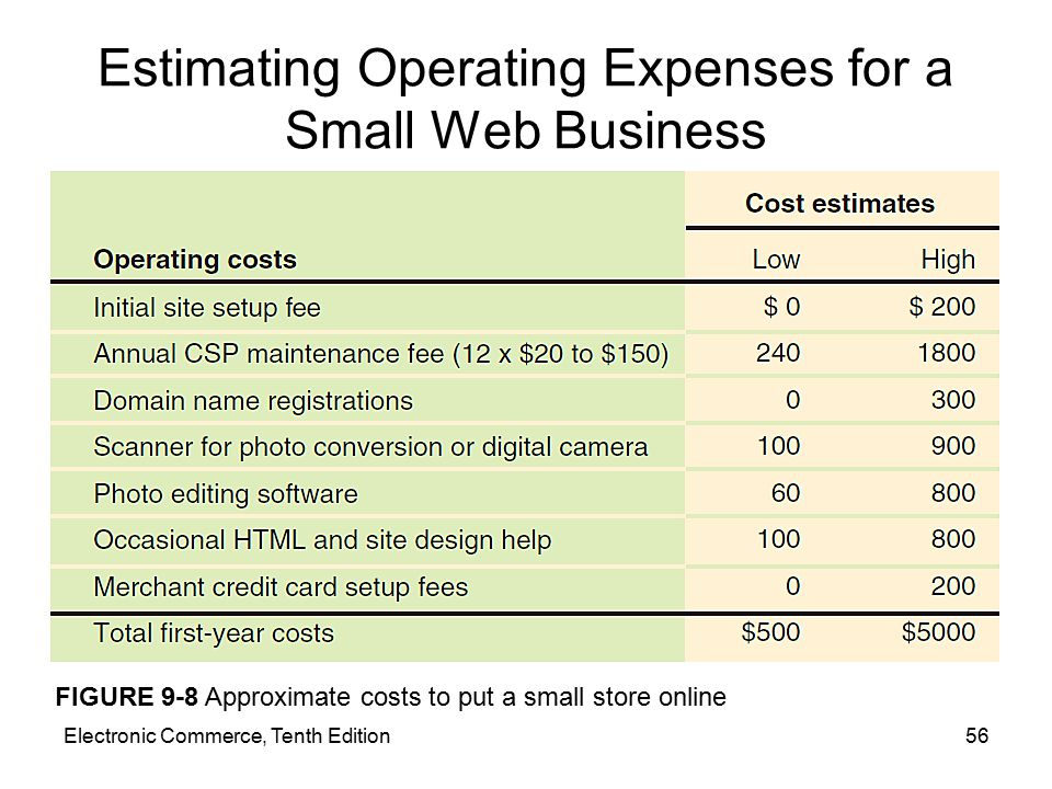 Estimating Operating Expenses for a Small Web Business