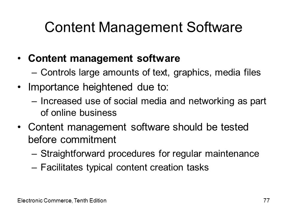 Content Management Software