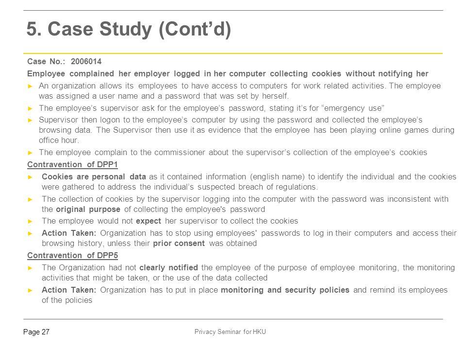 5. Case Study (Cont'd) Case No.: 2006014
