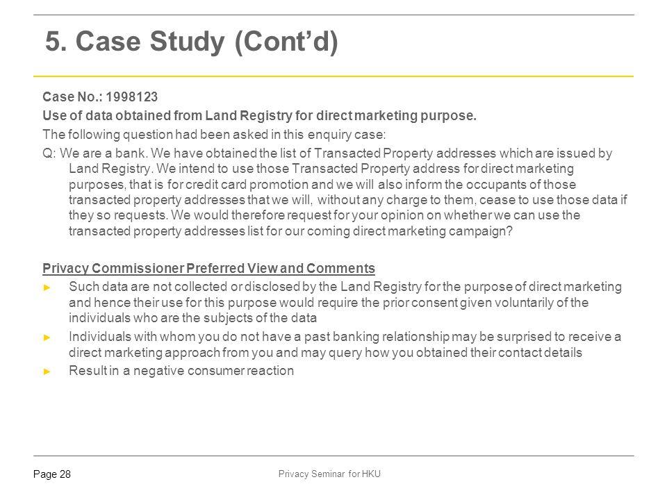 5. Case Study (Cont'd) Case No.: 1998123
