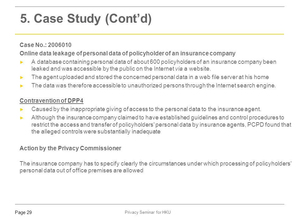 5. Case Study (Cont'd) Case No.: 2006010