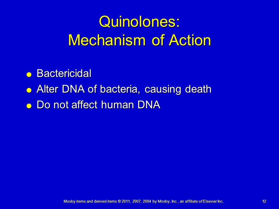 Quinolones: Mechanism of Action
