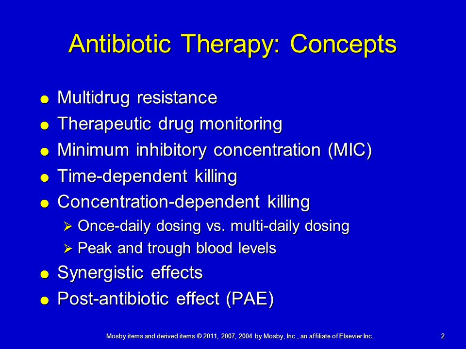 Antibiotic Therapy: Concepts