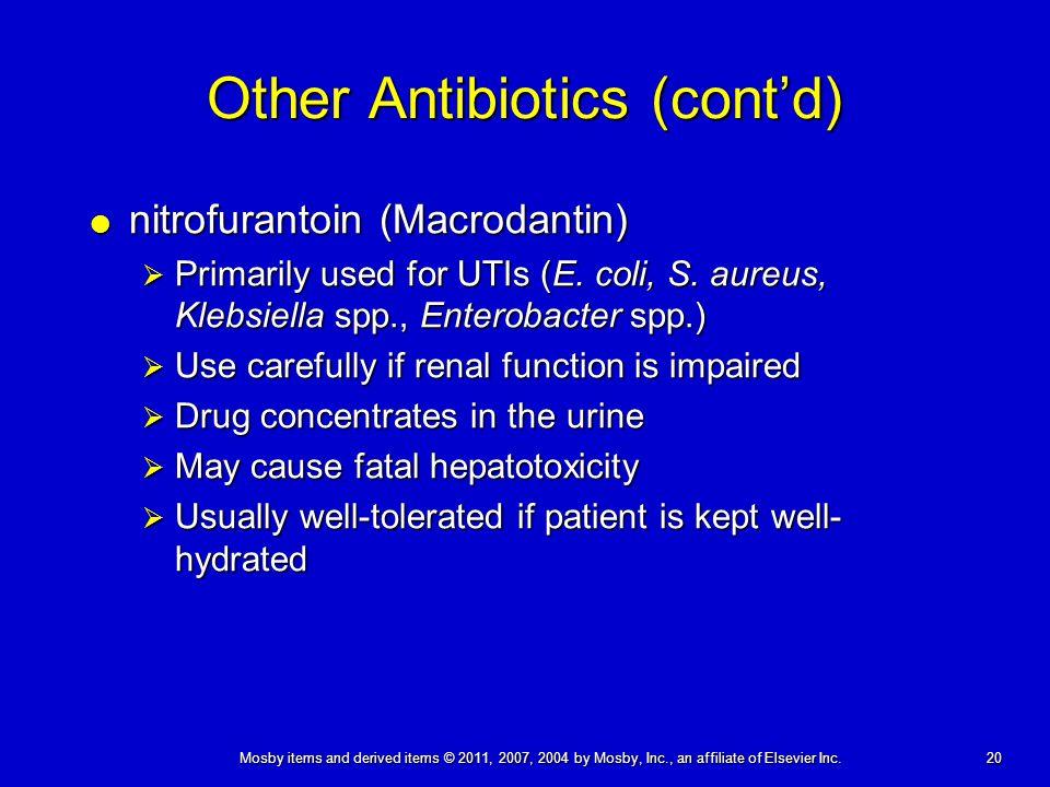 Other Antibiotics (cont'd)