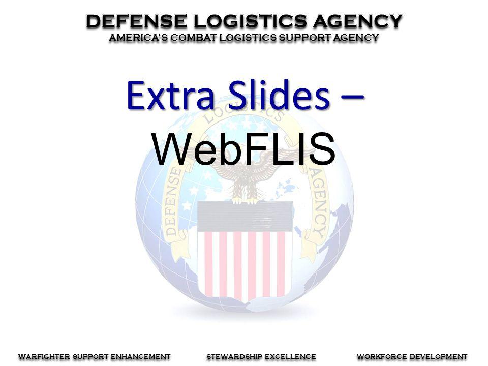 Extra Slides – WebFLIS