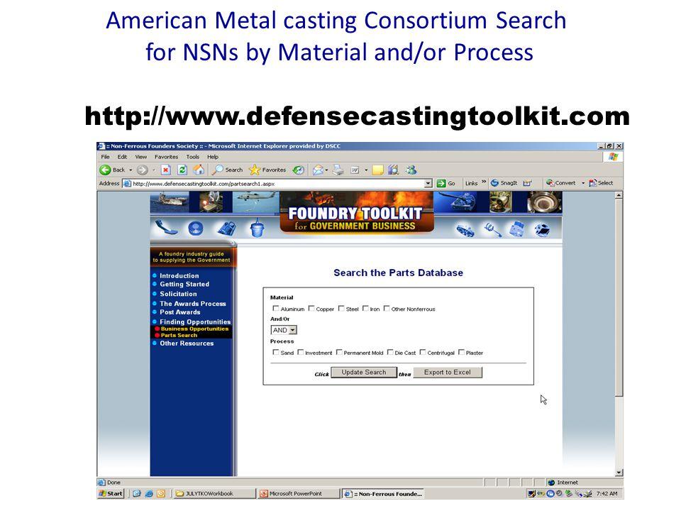 American Metal casting Consortium Search