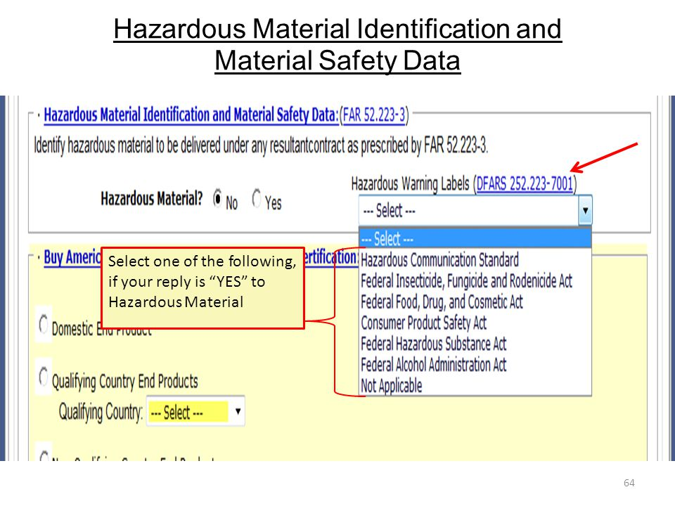 Hazardous Material Identification and Material Safety Data