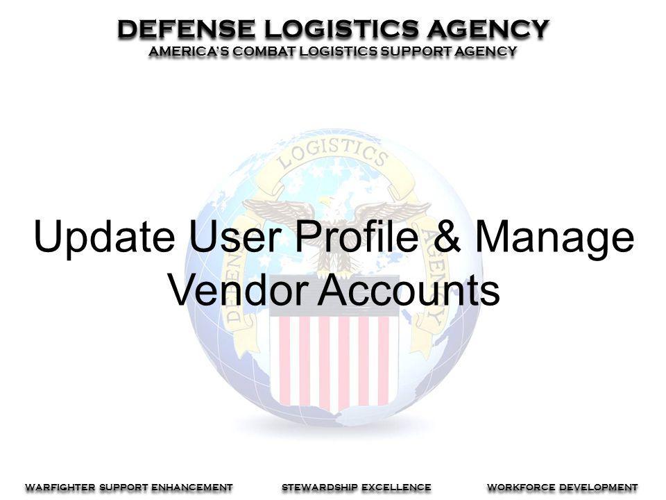 Update User Profile & Manage Vendor Accounts