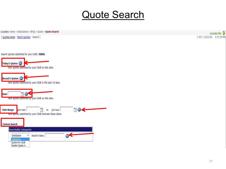 Quote Search