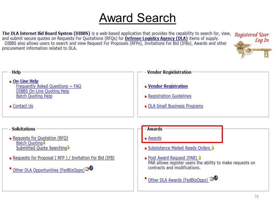 Award Search
