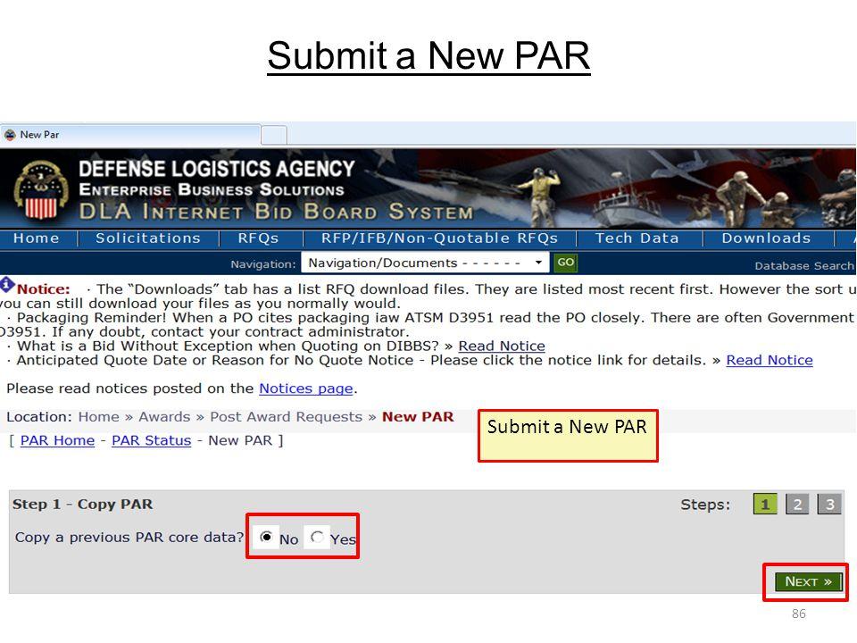 Submit a New PAR Submit a New PAR