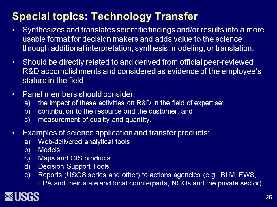 Special topics: Technology Transfer