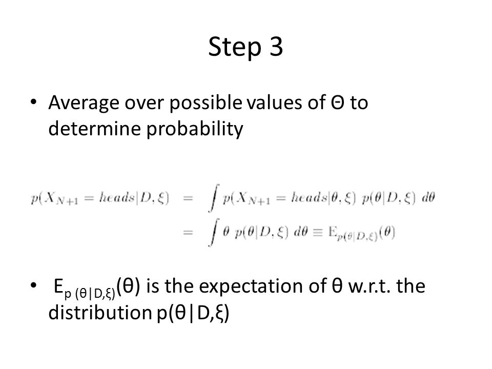 Step 3 Average over possible values of Θ to determine probability