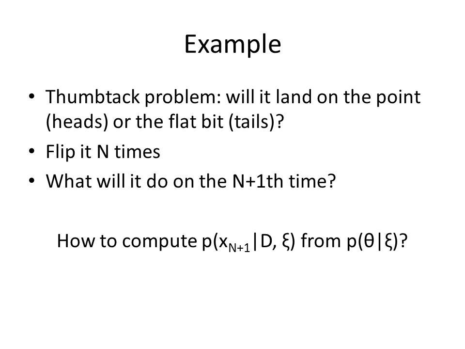 How to compute p(xN+1|D, ξ) from p(θ|ξ)