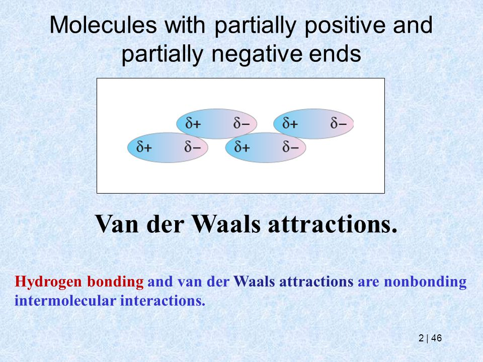 Molecules with partially positive and partially negative ends