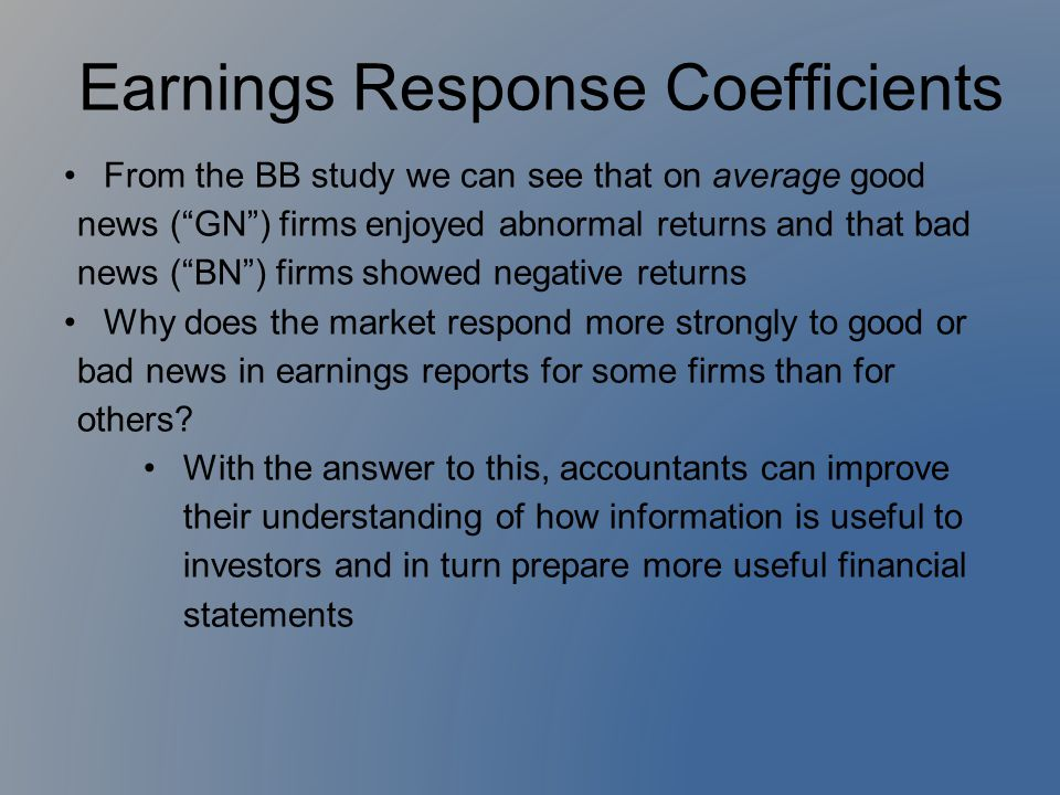 Earnings Response Coefficients