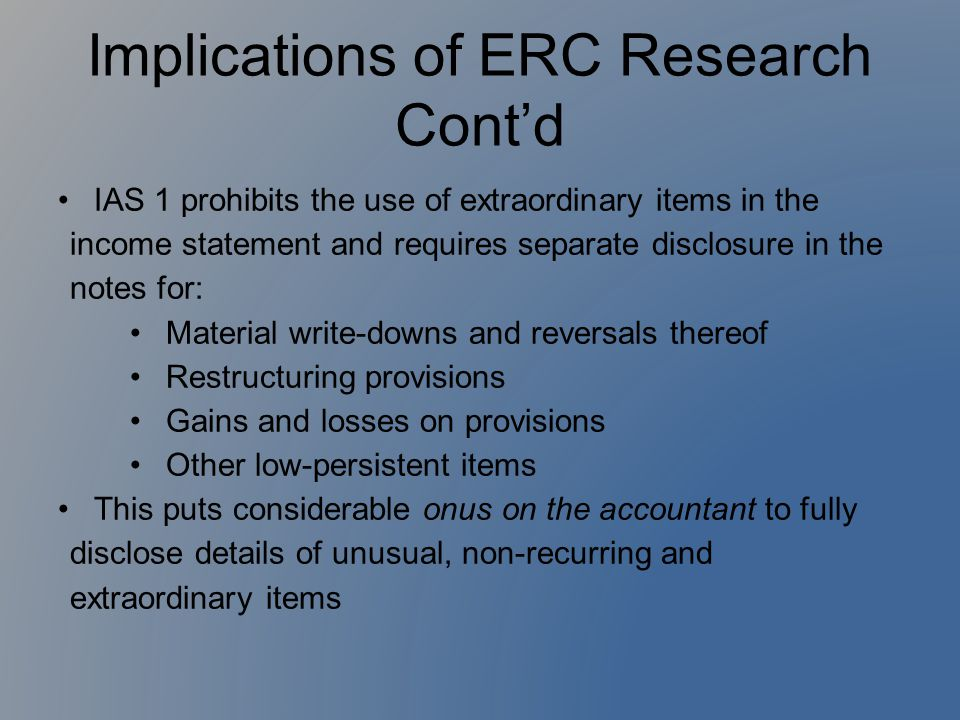 Implications of ERC Research Cont'd