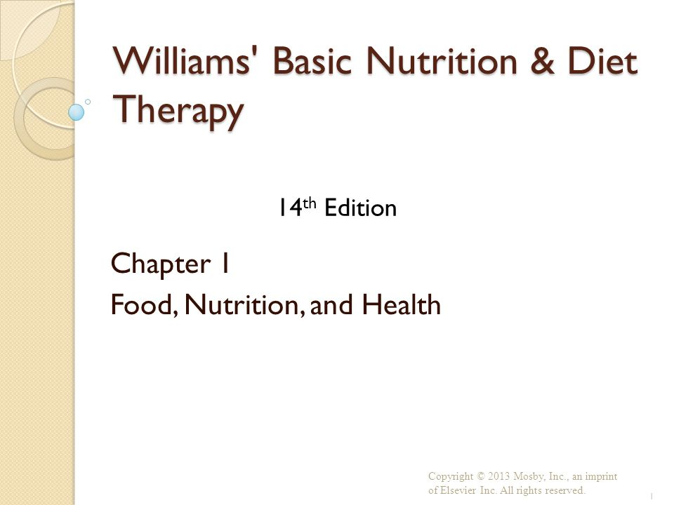 williams basic nutrition and diet therapy 14th edition Williams' basic nutrition & diet therapy - e-book (lpn threads) 14th edition, kindle williams' basic nutrition & diet therapy is a market leader for a reason.