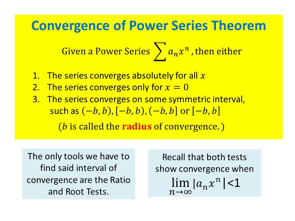 Convergence of Power Series Theorem