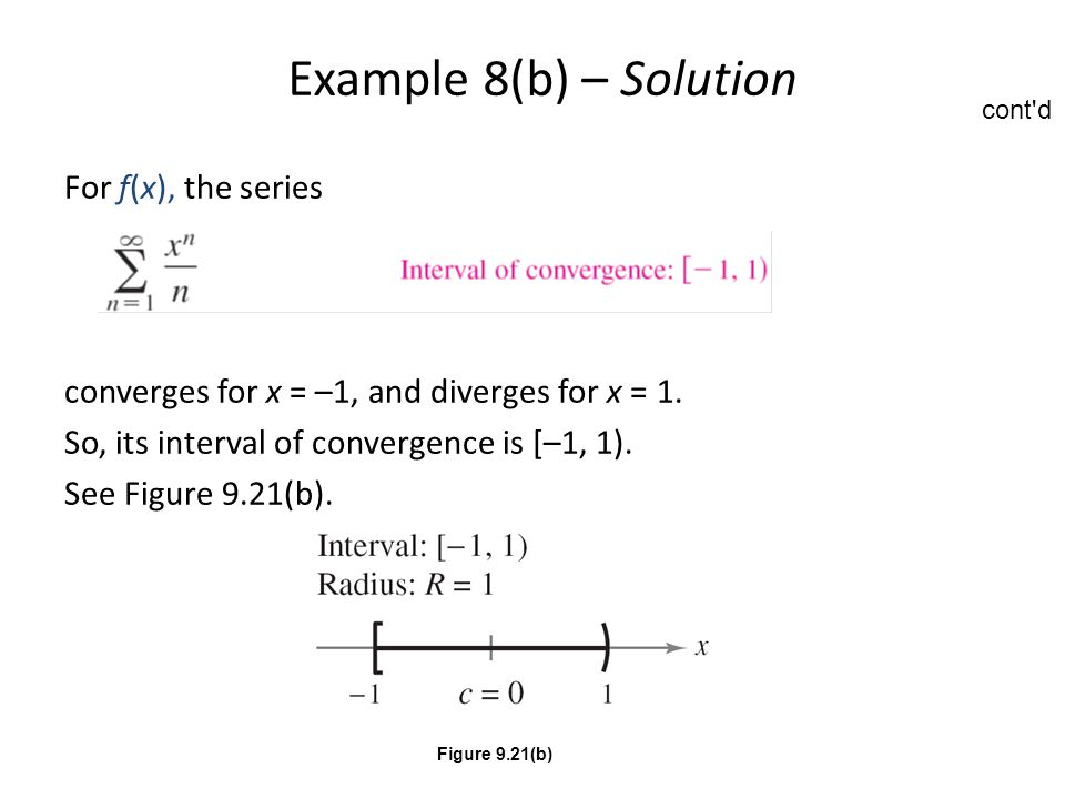 Example 8(b) – Solution For f(x), the series