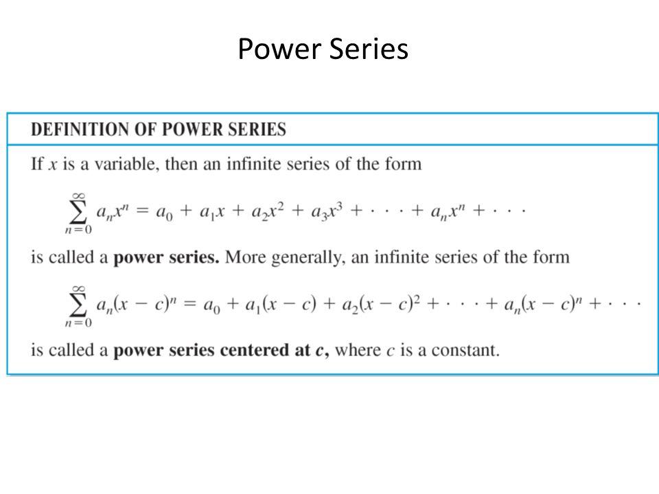 Power Series