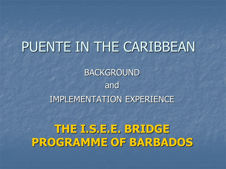 PUENTE IN THE CARIBBEAN