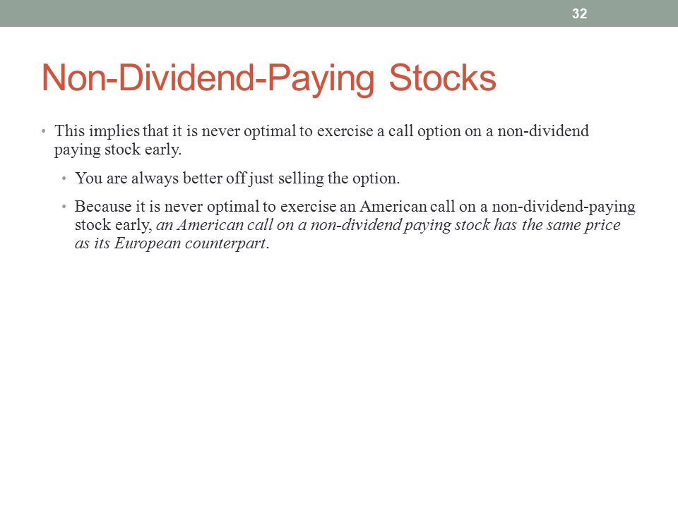 Non-Dividend-Paying Stocks