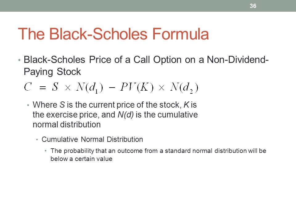 The Black-Scholes Formula