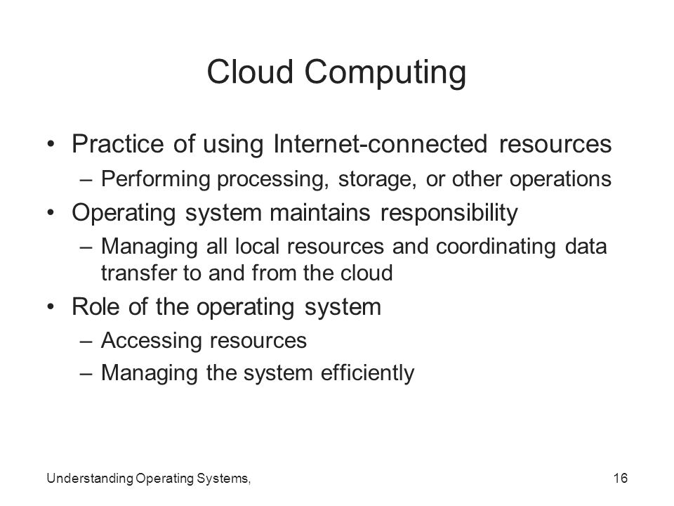 Cloud Computing Practice of using Internet-connected resources