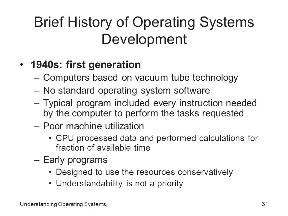 history and development of operating systems essay The development of pilot, an operating system for a personal computer, is reviewed, including a brief history and some of the problems and lessons encountered during this development.