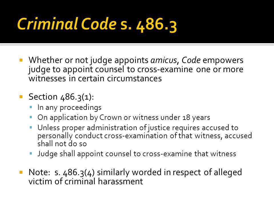 Criminal Code s. 486.3