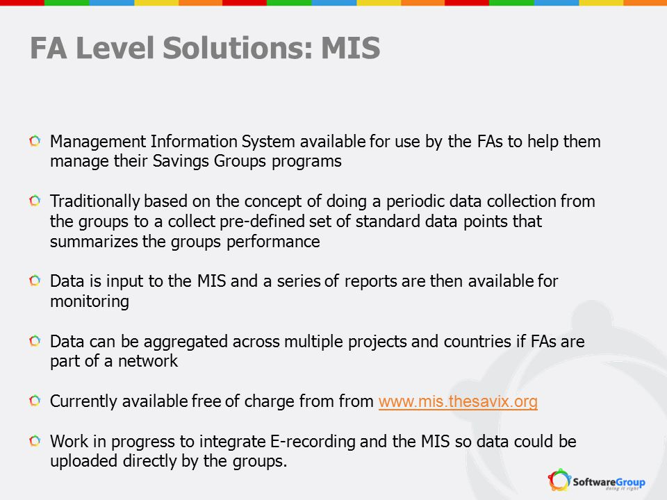 FA Level Solutions: MIS