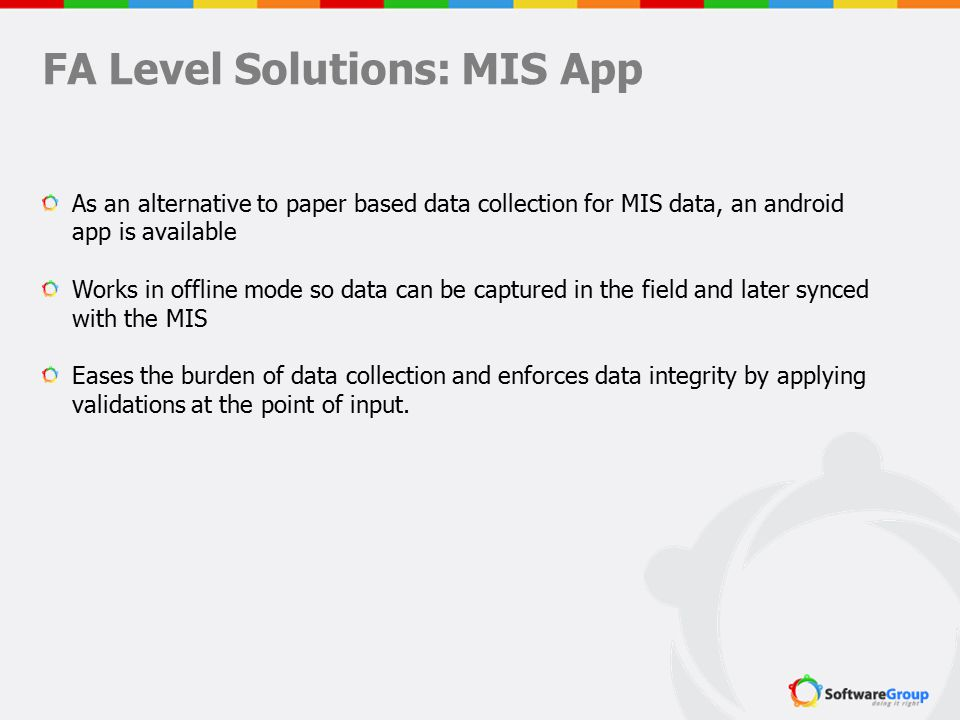 FA Level Solutions: MIS App
